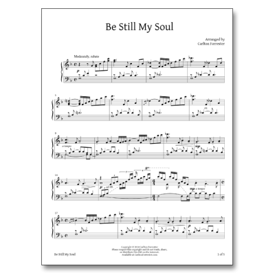 Be Still My Soul - Sheet Music - Arrangement by Carlton Forrester
