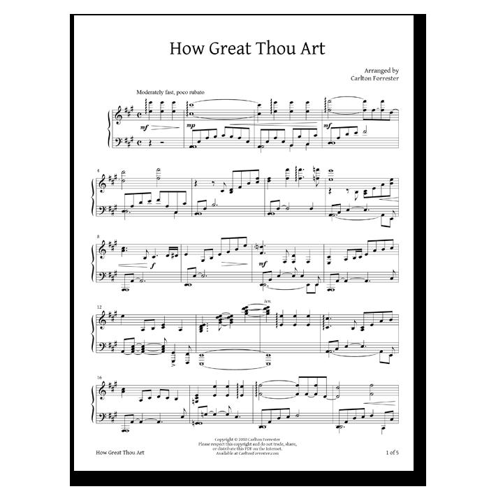 How Great Thou Art - Sheet Music - Arrangement by Carlton Forrester