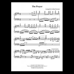 The Prayer - Sheet Music - Arrangement by Carlton Forrester