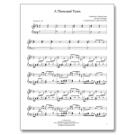 A Thousand Years - Sheet Music - Arrangement by Carlton Forrester