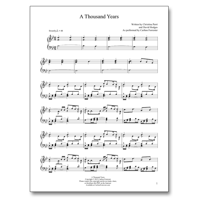 His Eye Is On The Sparrow – Sheet Music